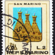 Foto Stock: Postage stamp SMarino 1968 Coat of Arms, SMarino