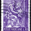 Postage stamp Vatic1966 Organist, Bas-relief by Mario Rudelli — Stock Photo #11941939