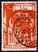Postage stamp Vatican 1949 Basilica St. Prassede, Rome — Stock Photo