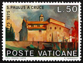 Postage stamp Vatican 1975 Mt. Argentario Monastery, Tuscany — Stock Photo