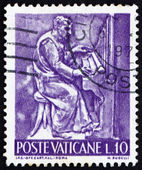 Postage stamp Vatican 1966 Organist, Bas-relief by Mario Rudelli — Stock Photo