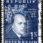 Постер, плакат: Postage stamp Austria 1957 Anton Wildgans Poet