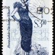 Postage stamp Austria 1970 The Merry Widow, Operetta - Stock Photo