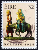 Postage stamp Ireland 1994 Flight into Egypt, Christmas — Stock Photo