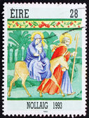 Postage stamp Ireland 1993 Flight into Egypt, Christmas — Stock Photo