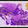 Postage stamp GB 1975 Angels with Lute and Harp, Christmas — Foto de Stock