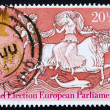 Postage stamp GB 1984 Abduction of Europa - Stock Photo
