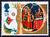 Postage stamp GB 1991 Adoration of the Magi, Christmas — Stock Photo