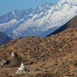 stupa in himalaya — Stock Photo #11090512