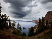 Crater lake — Stock Photo