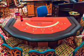 Baccarat Table — Stock Photo