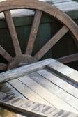 Roda de carroça — Foto Stock