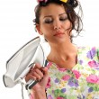 The girl with an iron — Stock Photo #11131512