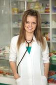 Doctor at pharmacy — Stock Photo