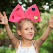 The girl with bow — Stock Photo #11993046