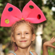 The girl with bow — Stock Photo
