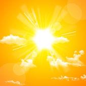 Yellow sun and cloud — Stock Photo