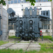 Huge industrial high-voltage substation power transformer - Stock Photo
