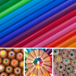 Colored Pencils Collage — Stock Photo