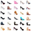 Ladies Shoes Collage — Stock Photo