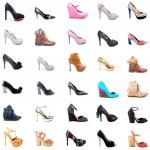 Ladies Shoes Collage — Stock Photo