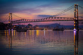 Hercilio Luz Bridge at Sunset — Stock Photo