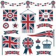 Royalty-Free Stock Vector Image: Uk flags and ribbons