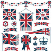 Uk flags and ribbons — Stock Vector