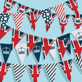Uk bunting background — Stock Vector
