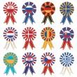 European rosettes - Stock Vector