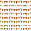 Mexican party bunting — Stock Vector