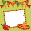Stock Vector: Mexican party card