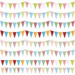 Party bunting — Stock Vector