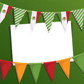 Mexican party card — Stock Vector