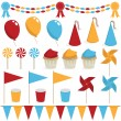 Party decorations — Stock Vector