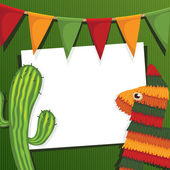 Mexican party card — Vetorial Stock