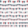 Usa party bunting — Stock Vector
