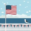 Usa coastal scene — Stock Vector