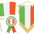 Stock Vector: Ireland flags