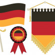 Germany flags — Stock Vector