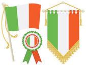 Ireland flags — Stock Vector