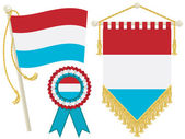 Luxembourg flags — Stock Vector