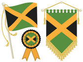 Jamaica flags — Stock Vector