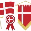 Denmark flags — Vettoriale Stock #11588427