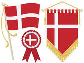 Denmark flags — Stock Vector