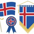 Iceland flags — Vettoriali Stock