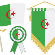 Algeria flags — Stock Vector