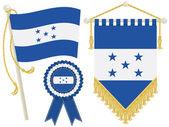 Honduras flags — Stock Vector