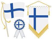 Drapeaux de finlande — Vecteur