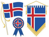 Iceland flags — Stock Vector